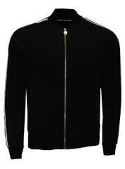 Men's Long Sleeve Icon Track Jacket with HAMSA Hand-Black