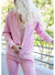 Women's Long Sleeve Diamond Jacket-Pink
