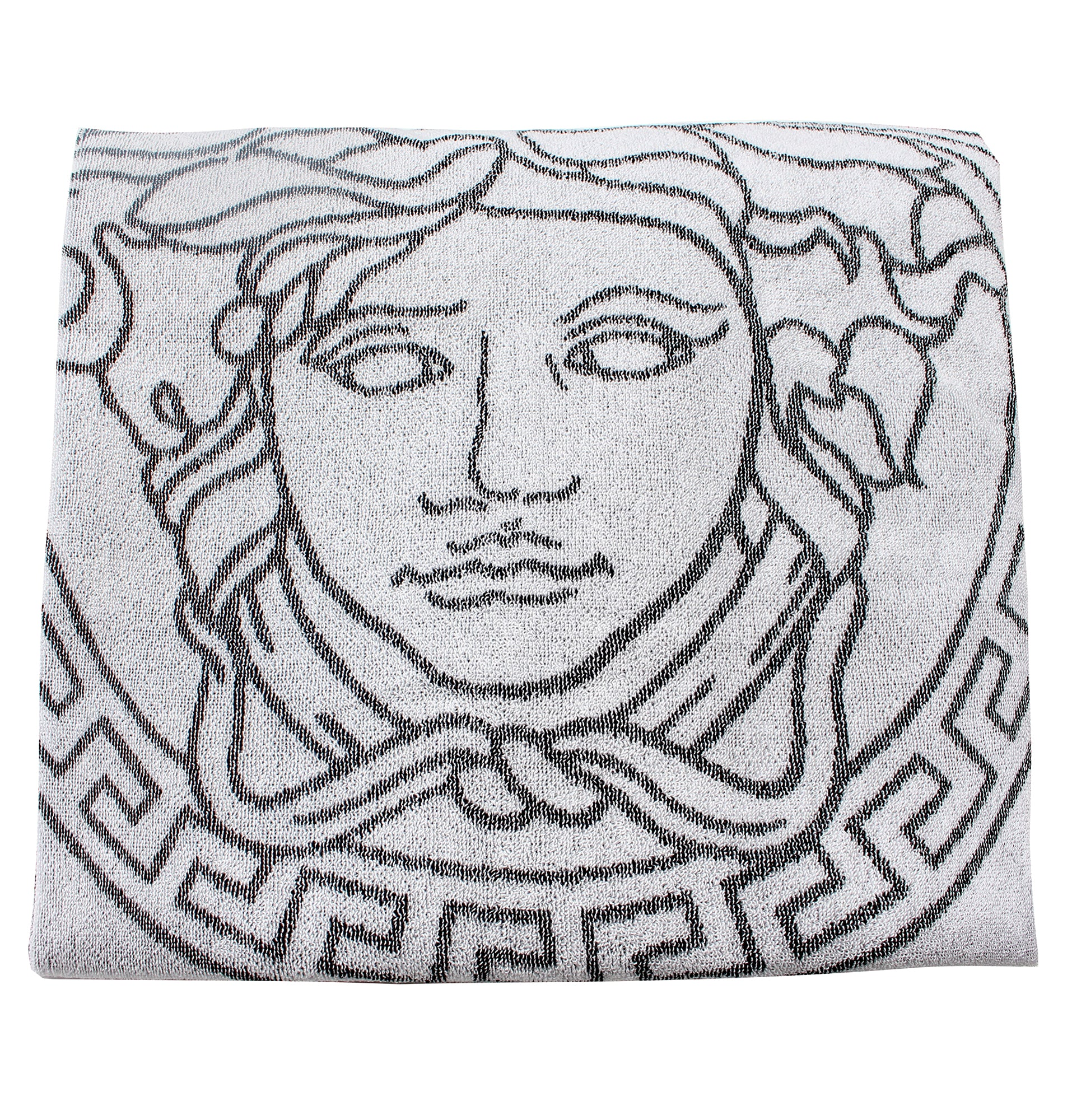 Versace Embroidered Medusa Towel