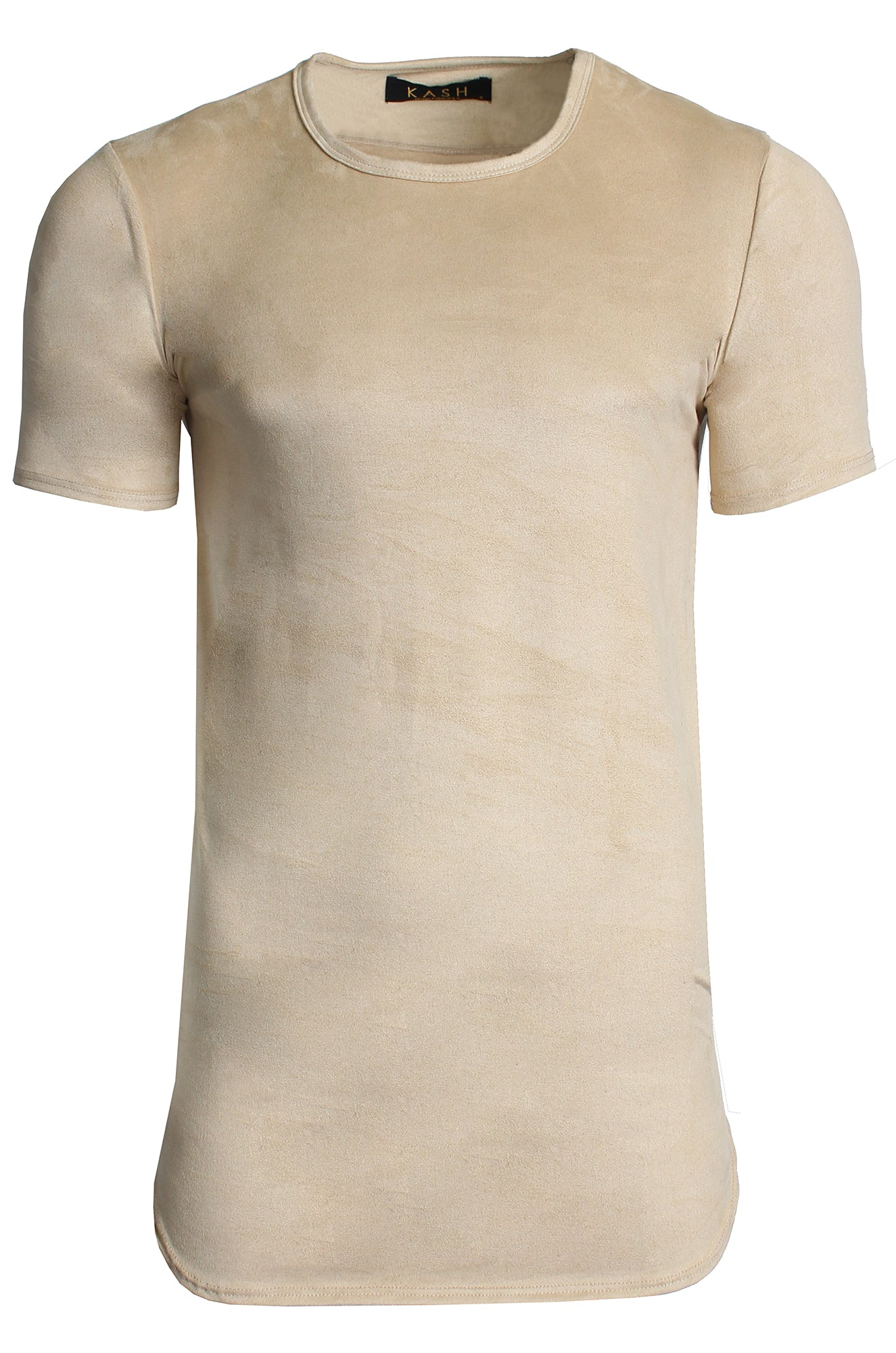Elongated Stretch Suede Tan Tunic