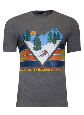 Ski Mountain T-Shirt| Grey