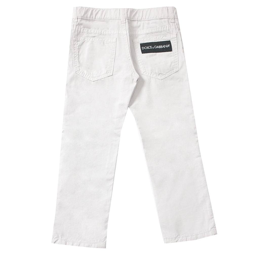 Kids-Boys Pants-Light Grey