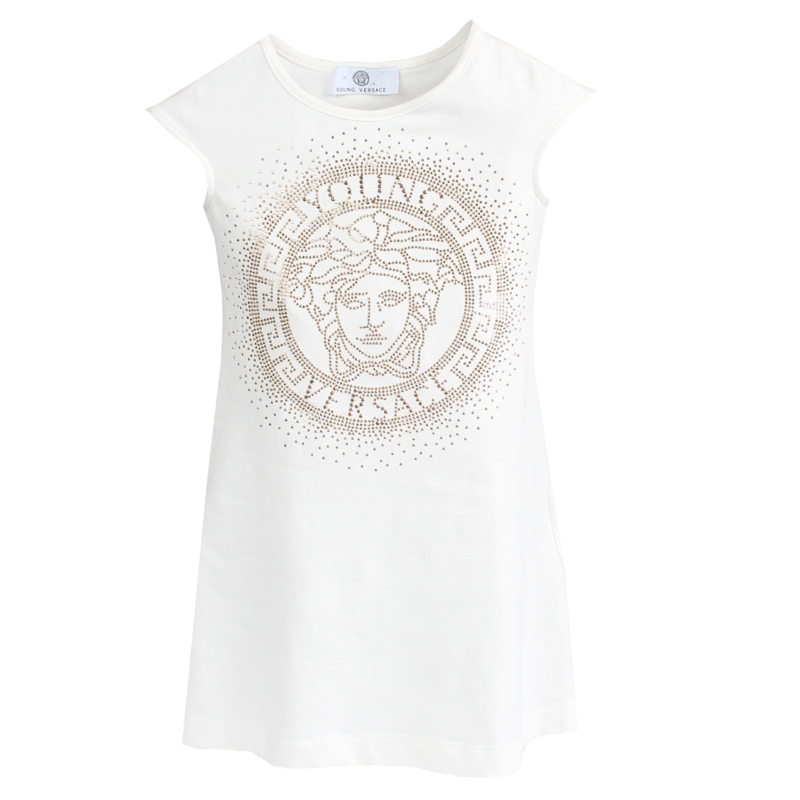 Young Versace | Girls Medusa White Dress