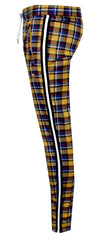 "KASH Gold Plaid Track Pant ""Private School Collection"""