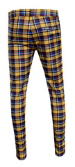 Men's Plaid Track Pants from 'Private School Collection'-Gold