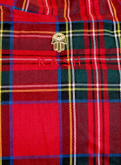 KASH Red Plaid Track Jacket ,Private School Collection