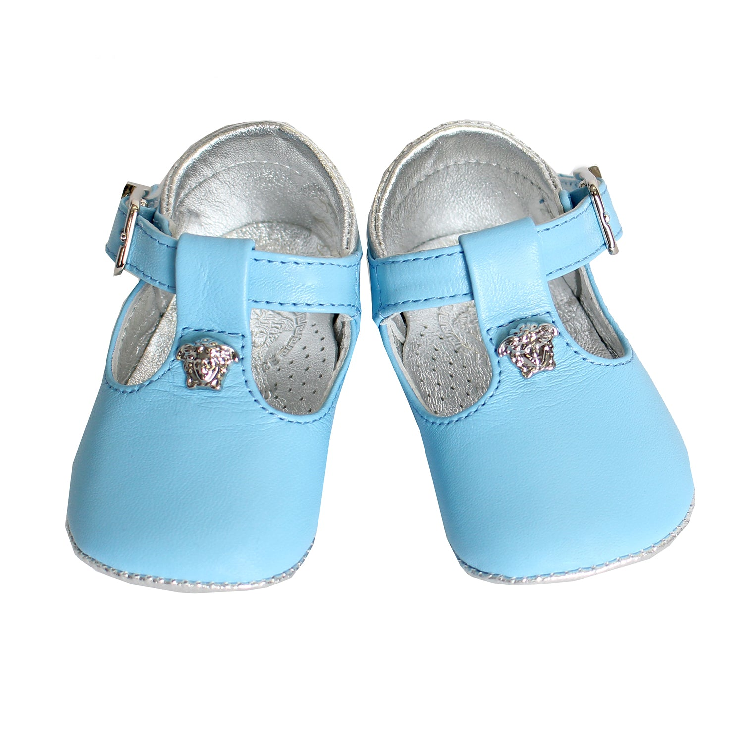 Young Versace Baby Boy Crib Shoes-Light