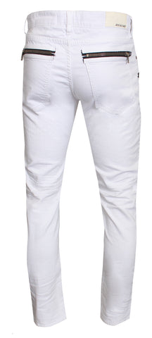 Bokha Biker Denim| White