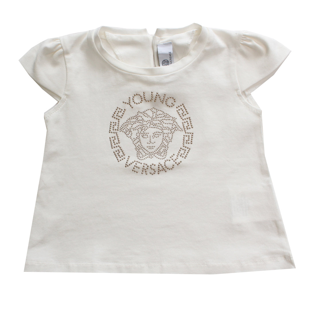 Young Versace | Baby Girl S/S Embellished Medusa logo