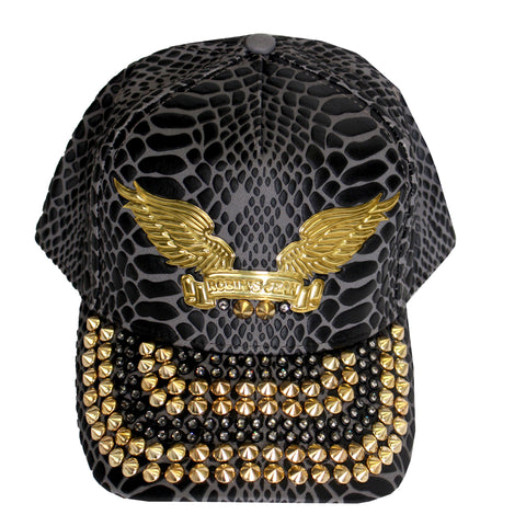 Robin's Jean Cap w/blk Diamonds SW & Gold Spikes