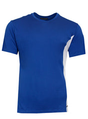 Men's Short Sleeve Gym Side Logo Tee Shirt-Blue