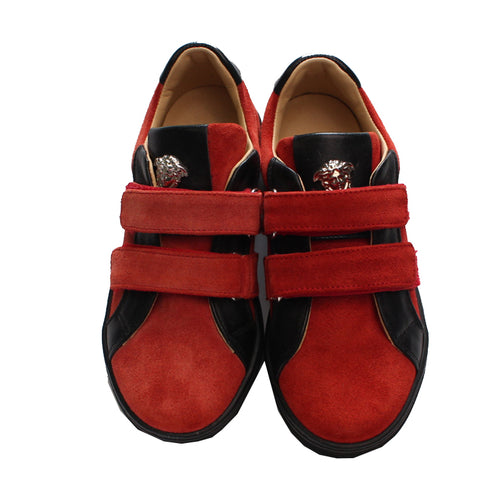 Boys Sneakers With Velcro-Red and Black