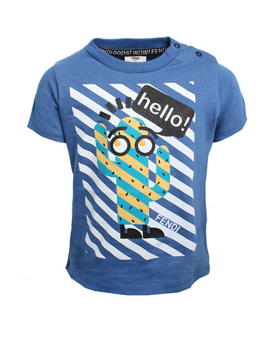 Fendi T-Shirt(BLUE)