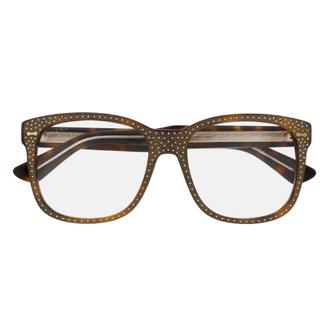 GUCCI Square-frame rhinestone glasses