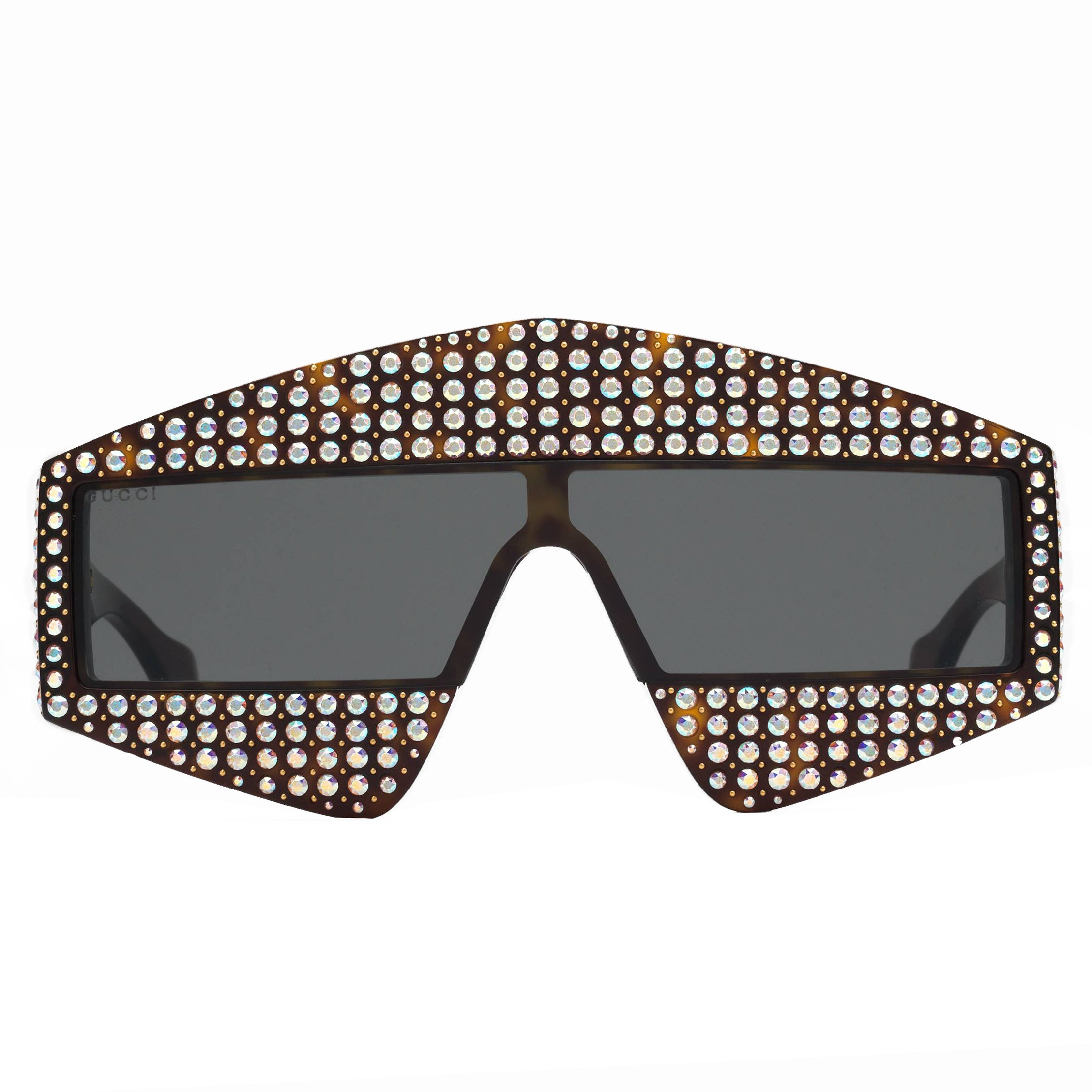 e66141c879 Rectangular Frame Acetate Sunglasses With Crystals – PureAtlanta.com