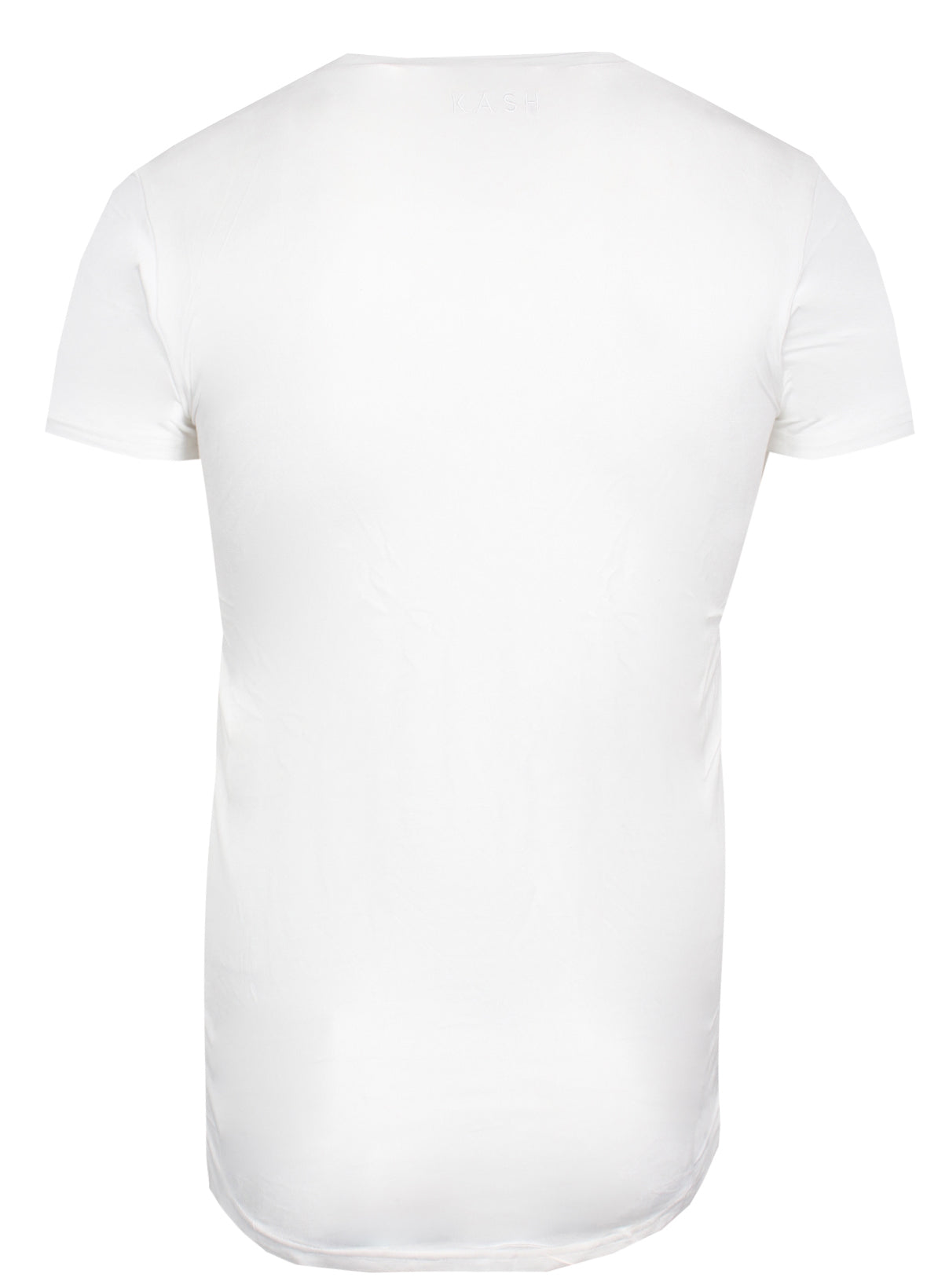 Men's Hamsa Short Sleeve V-neck Tee Shirt-White