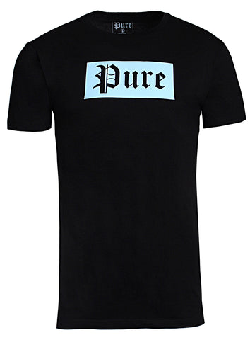 Pure Block Logo Tee|Black