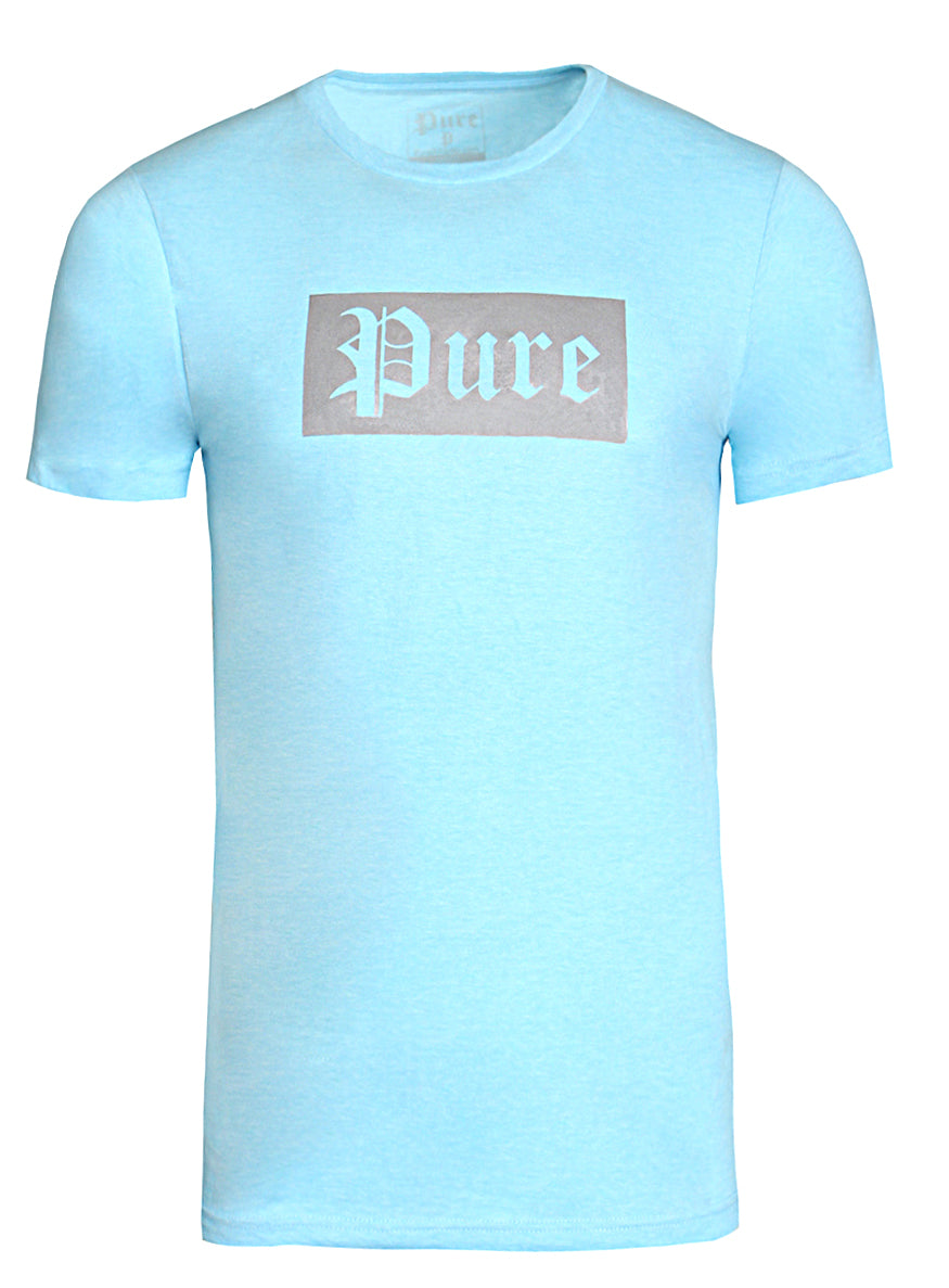 Pure Logo Block Tee|Light Blue