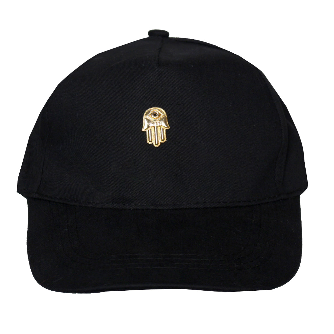 Men's 3D Gold Hamsa Hand Cap-Black