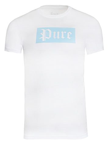 Pure Block Logo Tee|White