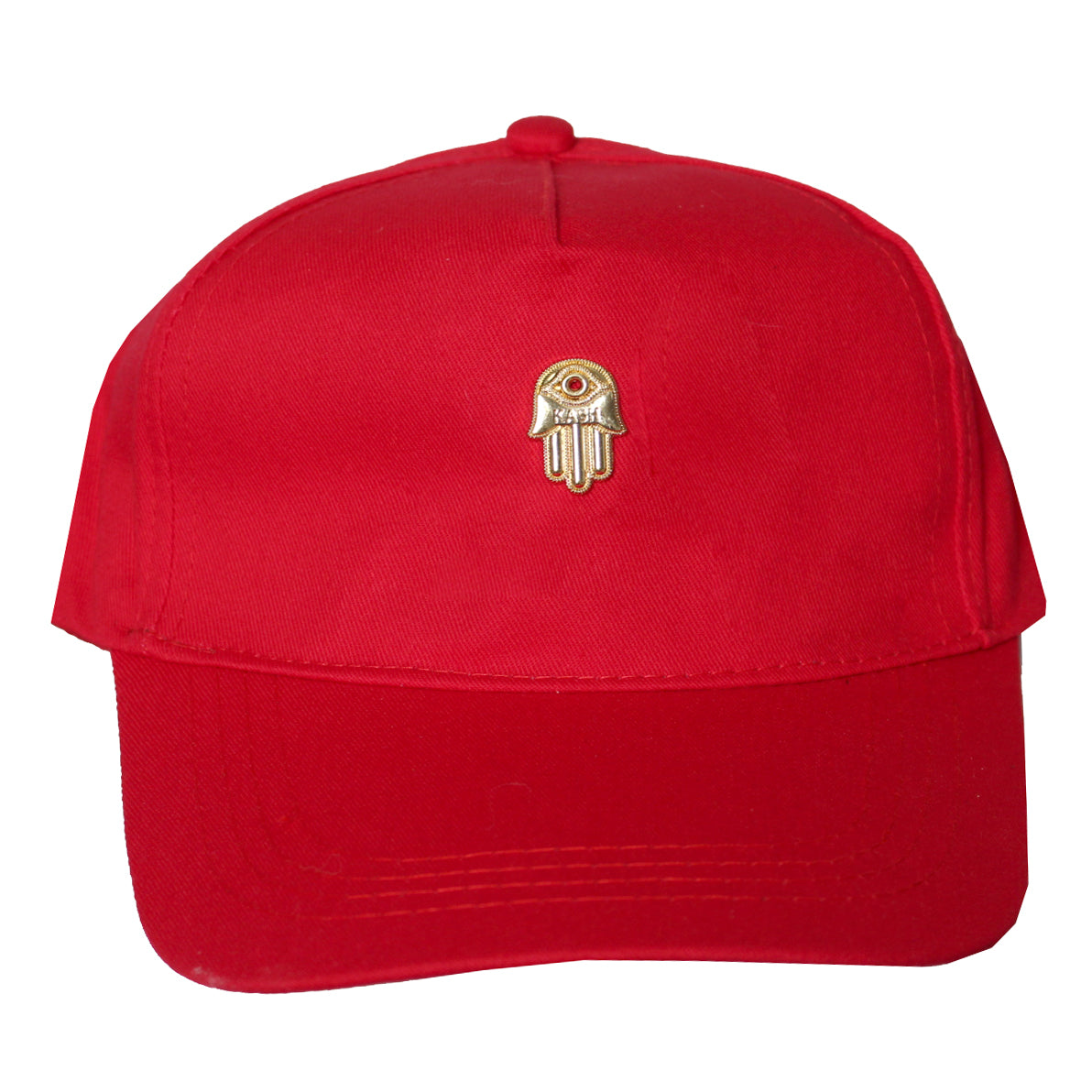 Men's 3D Gold Hamsa Hand Cap-Red