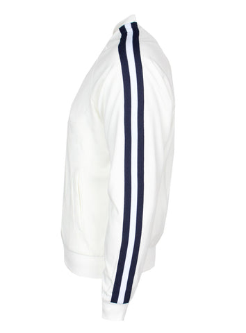 KASH Side Stripe White Jacket