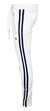Men's Side Stripe Joggers-White