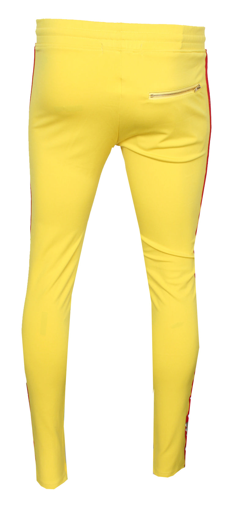 Men's Luxury Lounge Stripe Joggers-Yellow