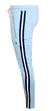 Men's Luxury Lounge Stripe Joggers-Sky Blue