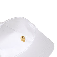 Men's 3D Gold Hamsa Hand Cap-White