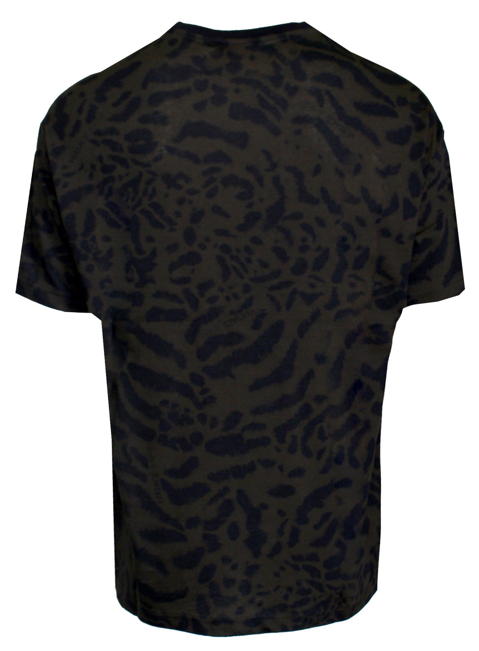 Men's Short Sleeve Vertical Side Logo Tee Shirt-Black
