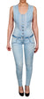 Women's Light Denim Crystal Jumsuit