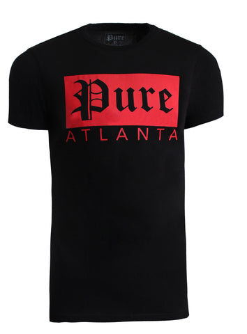 Pure Atlanta Rectangle Logo|Black