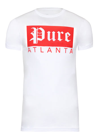 Pure Atlanta Rectangle Logo|White