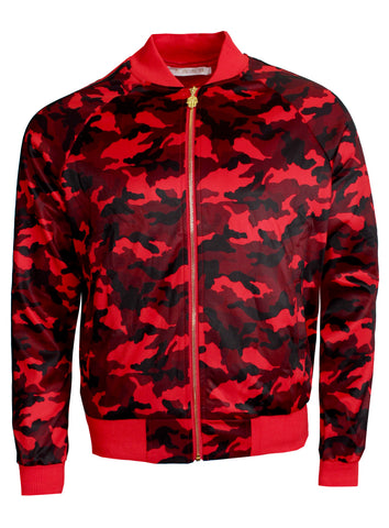 KASH Camouflage Track Jacket | Red