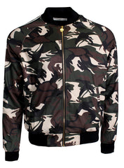 Men's Long Sleeve Camouflage Track Jacket-Green