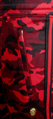 Men's Camouflage Track Pants-Red