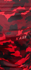 KASH Camouflage Track Pants | Red