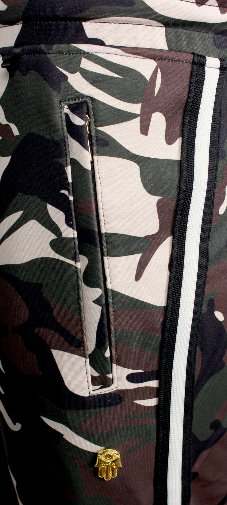 Men's Camouflage Track Pants-Green