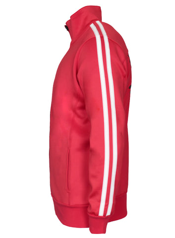 Red Track Jacket White Stripe