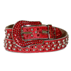 B.B Simon Red and Silver Belt