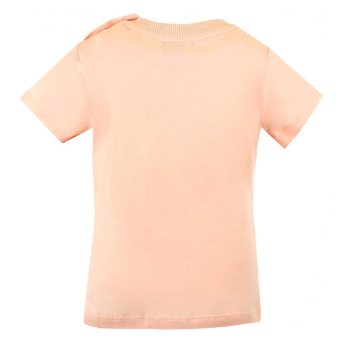 Baby Teddy Bear and Heart Tee-Light Pink