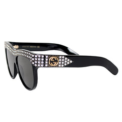 Gucci Acetate Sunglasses with Crystals
