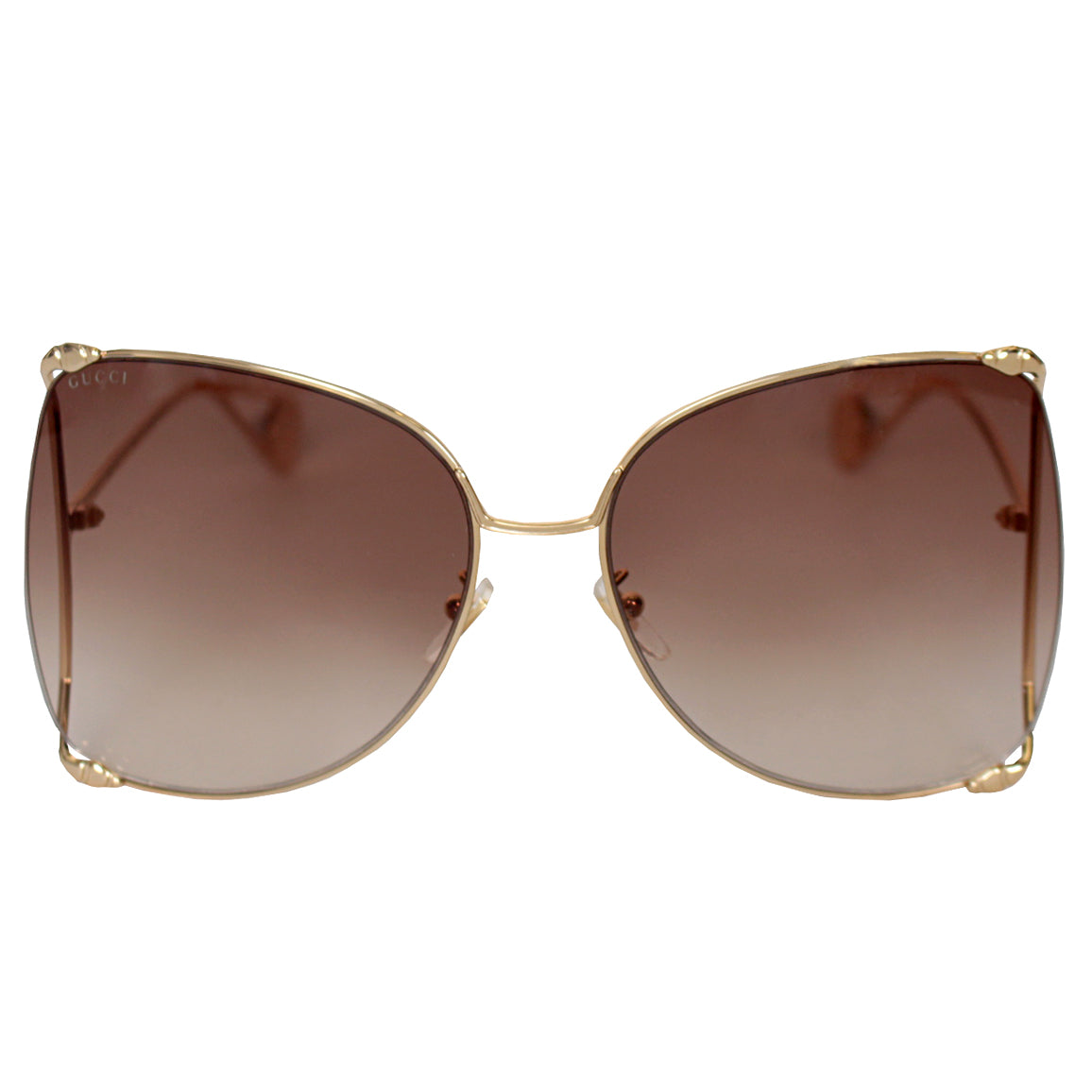 Oversize round-frame metal Gucci Sunglasses