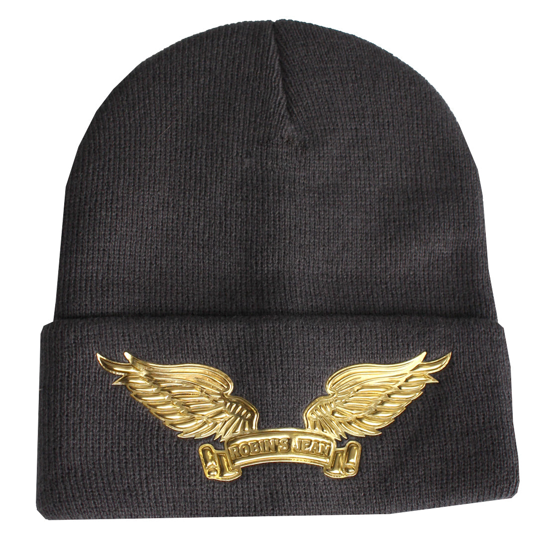Robin's Skully W/Gold Wings | Charcoal
