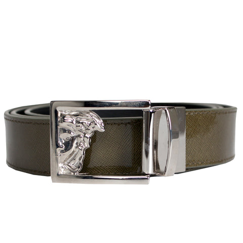 Versace | Medusa Half Shiny Green Belt