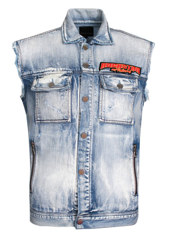 Archie Denim Vest|Blue Denim