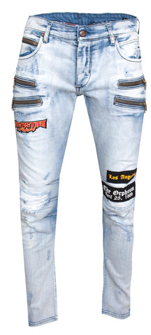 Archie W/Zipper Jean|Blue