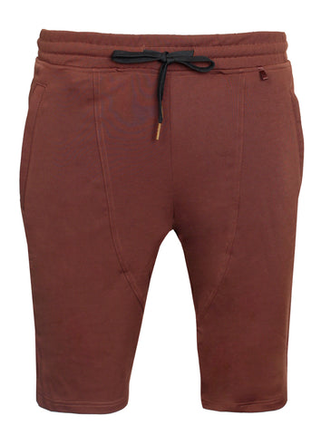 Men's Hot Chocolate Track Shorts-Brown