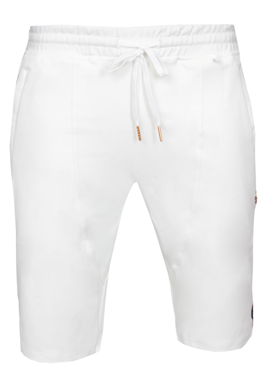 Milk & Cookies Track Shorts|White